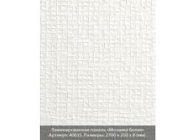 Ламинированная панель ПВХ «Мозаика белая»