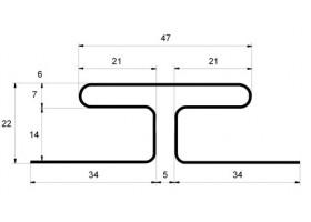 Профиль H соединительный 3,00 GL белый