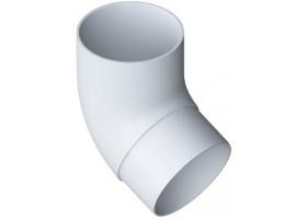 Колено трубы 67° ПВХ цвет Белый Элит