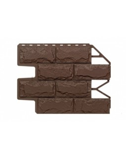 Фасадные Панели Holzplast Wandstein, Доломит, Темно-коричневый бесшовный
