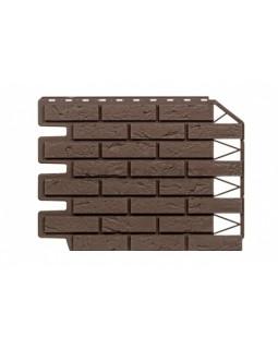 Фасадные Панели Holzplast Wandstein, Кирпич, Темно-коричневый бесшовный