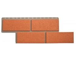 Фасадные Панели Альта-Профиль, Камень Неаполитанский, Терракотовый
