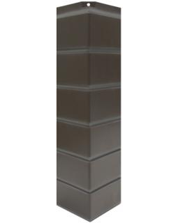 Угол наружный Nordside, Гладкий кирпич, Темно-коричневый