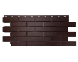 Фасадные Панели Nordside, Гладкий Кирпич, Темно-коричневый
