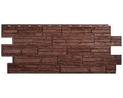 Фасадная панель «T-Siding», Альпийская сказка, коричневая