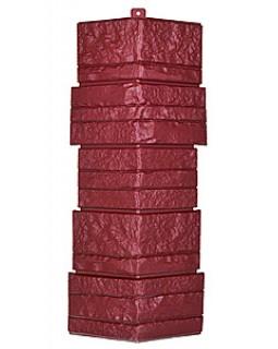 Угол фасадной панели «T-Siding», Альпийская сказка, красный