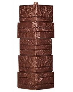 Угол фасадной панели «T-Siding», Альпийская сказка, коричневый