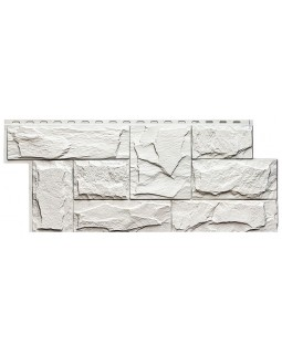 Фасадная панель «T-Siding», Европейский камень белый