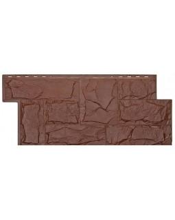 Фасадная панель «T-Siding», Европейский камень коричневый