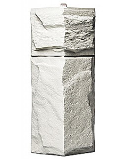 Угол фасадной панели «T-Siding», Европейский камень белый