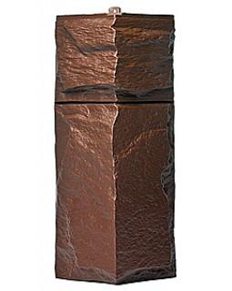 Угол фасадной панели «T-Siding», Европейский камень коричневый