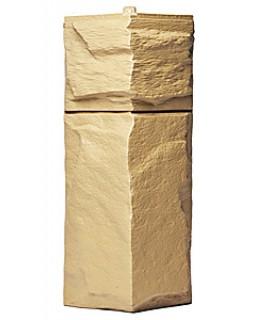 Угол фасадной панели «T-Siding», Европейский камень желтый
