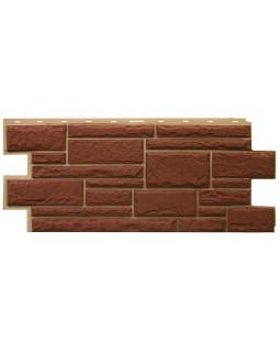 Фасадная панель «T-Siding», Камень коричневый