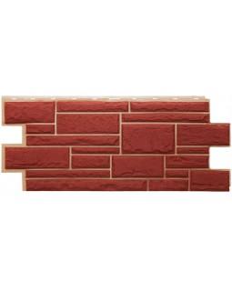 Фасадная панель «T-Siding», Камень красный